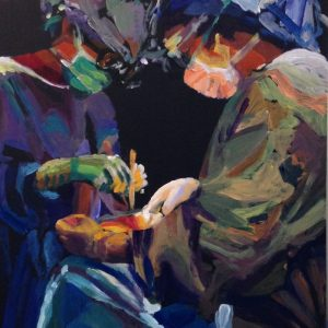 Women Surgeons in theatre