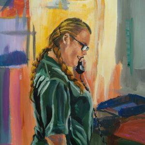 Abbie, Giclee on Canvas
