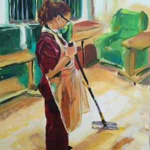 Louisa R, Giclee on Canvas