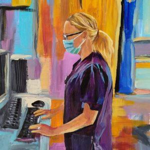 Nicola D, Giclee on Canvas