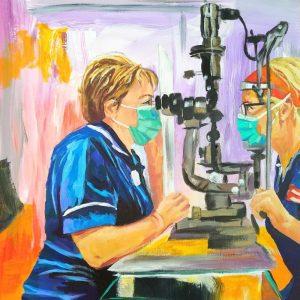 Karen & Anne Giclee on Canvas