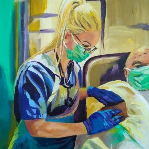 Dr Rebecca, Giclee on Canvas