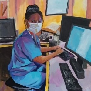 Amy K, Giclee on Canvas