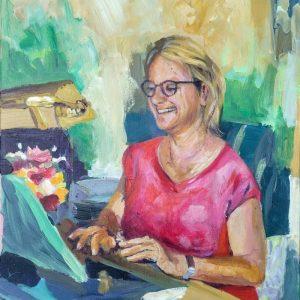 Judy, Giclee on Canvas
