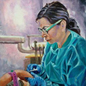 Dr Zelda, Giclee on Canvas