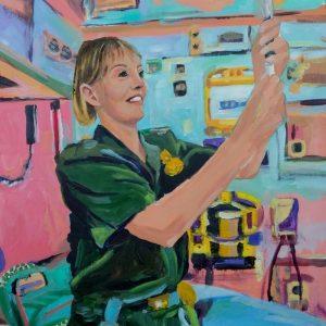 Sarah W, Giclee on Canvas