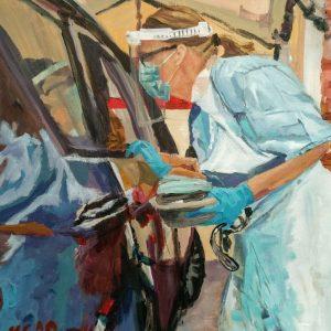 Jenny, Giclee on Canvas