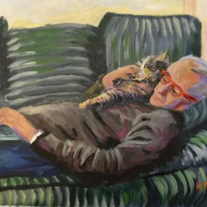 Prof Neil, Giclee on Canvas
