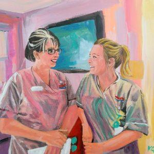 Lynn & Charlie, Giclee on canvas