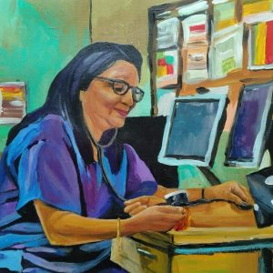Dr Sengupta, Giclee on canvas