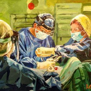Dr Kelvin & Dr Kat, Giclee on Canvas
