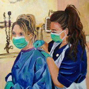 Arianna & Hermione, Giclee on Canvas
