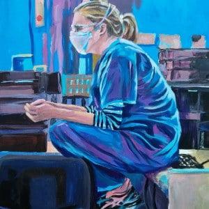 Dr Meg H, Giclee on canvas
