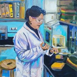 Dr Aysha, Giclee on canvas